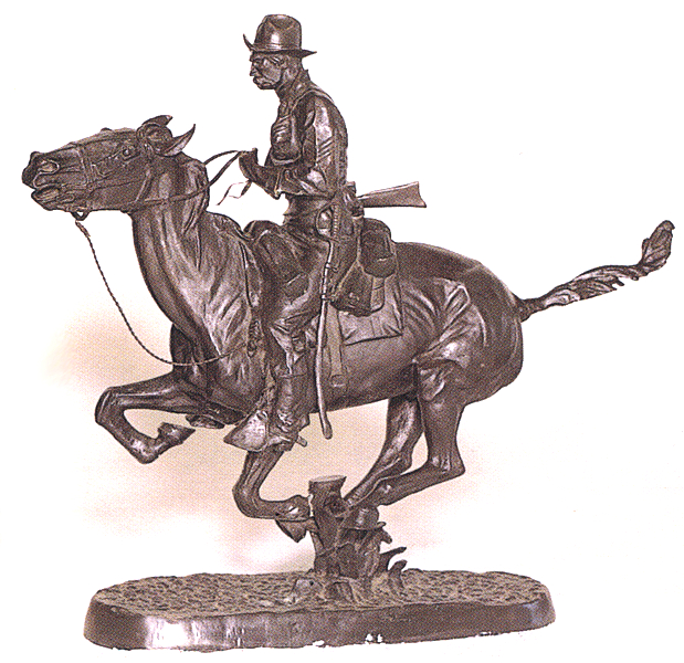 Bronze Remington Trooper Plains Statue (Prices Here) - ASB 005