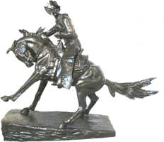 Bronze Remington Cowboy Statue - ASB 012