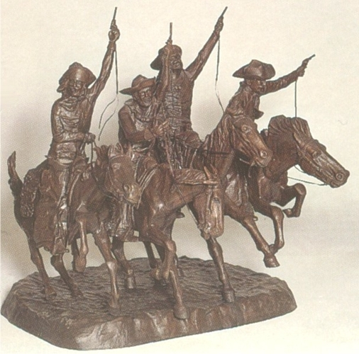 Bronze Remington Coming Through Rye Statue - ASB 014