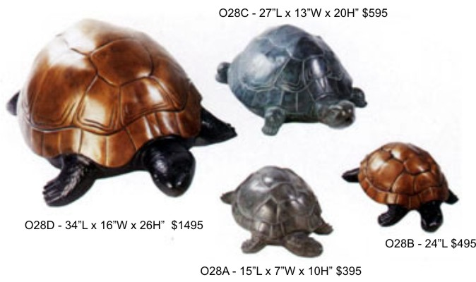 Bronze Turtle Spitter Fountains - DD 028ABCD