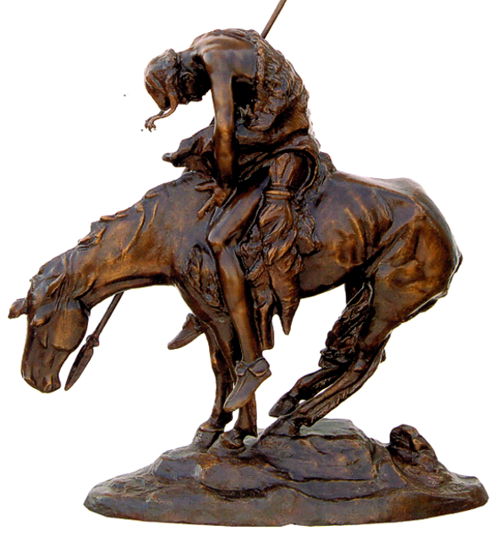Bronze Remington End Trail Statue (Prices Here) - ASB 039