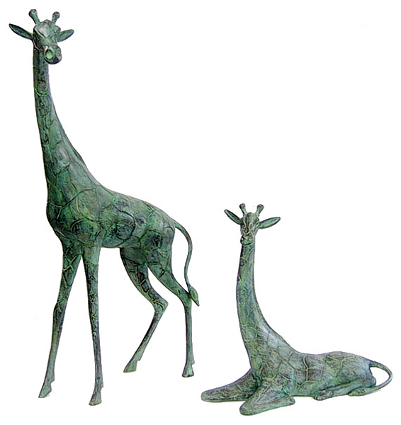 Bronze Giraffe, Calf Statues