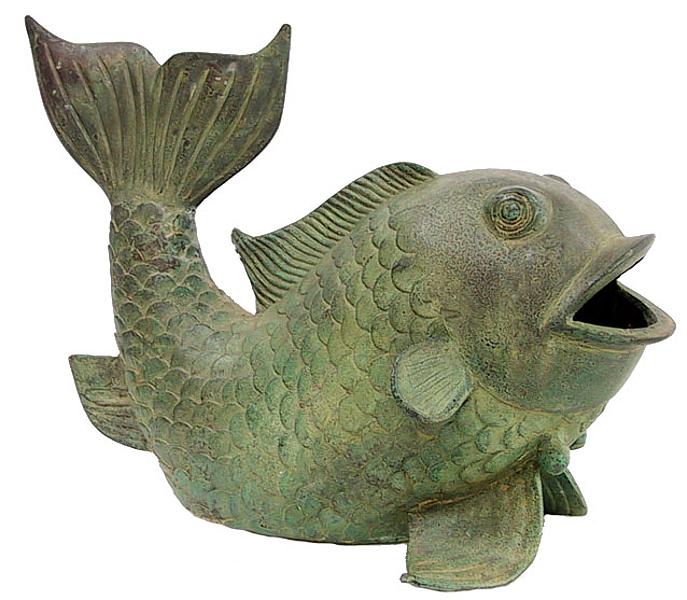 Bronze Fish Fountain Spitter - DD 1104D