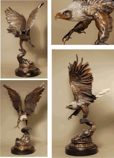 Bronze Eagle Statues - ASB 115MO
