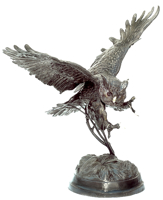 Bronze Owl Statue - ASB 116L