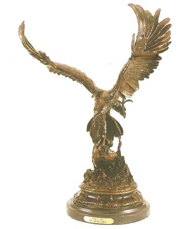 Bronze Flying Falcon Statue - ASB 117L