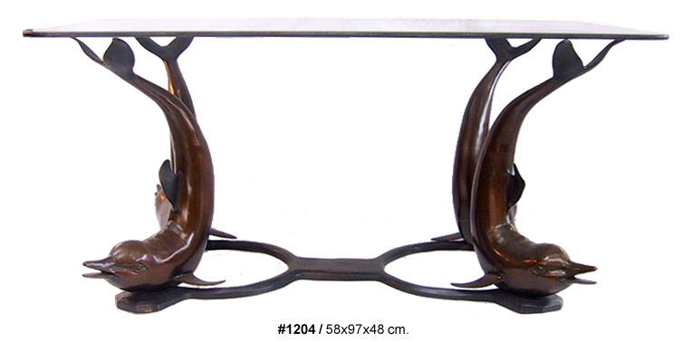 Bronze Dolphins Table - DD T-1204