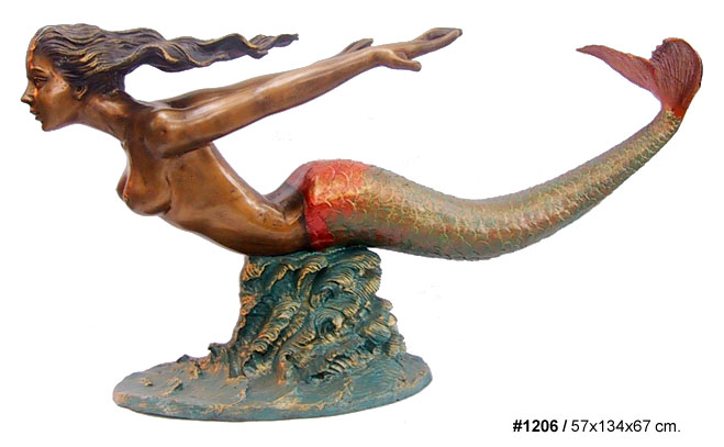 Bronze Mermaid Tables - DD T-1206
