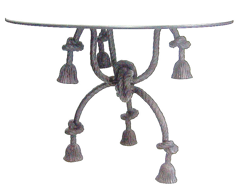 Bronze Rope End Table - DD T-1221