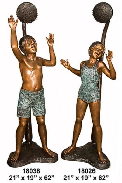 Bronze Kids Shower Fountain