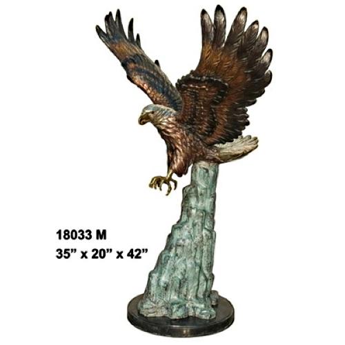 Bird of Prey Bronze Eagle Statue - AF 18033M