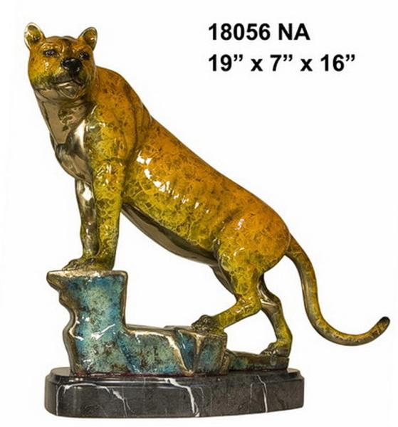 Bronze Puma Statues - AF 18056NA