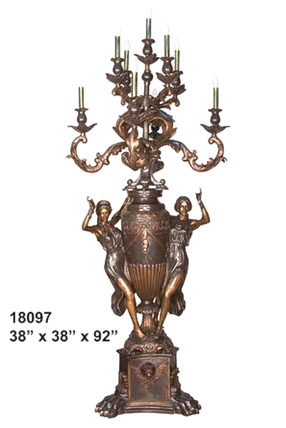 Bronze Ladies Candelabra