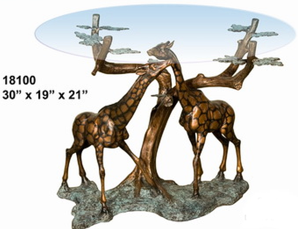 Bronze Giraffe Table - AF 18100