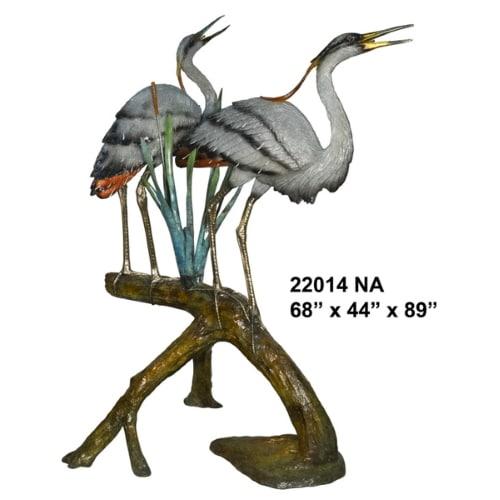 Bronze Heron Fountain - AF 22014 NA