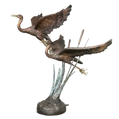 Bronze Swan Fountain - AF 22018