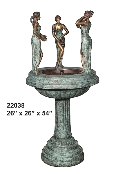 Bronze Ladies Fountain - AF 22038