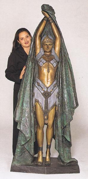 Bronze Antinea Statue - ASB 237