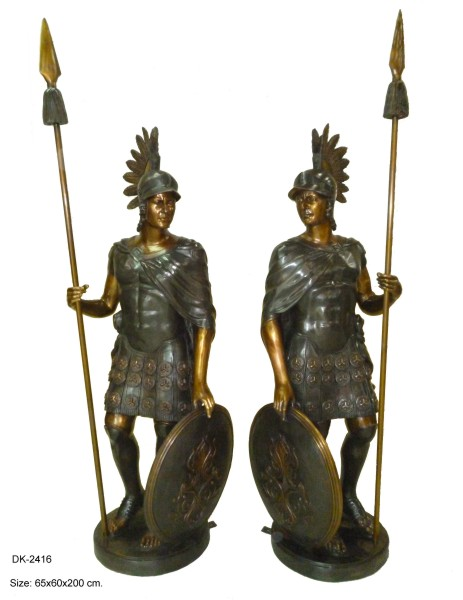 Bronze Spartan Statue - DK 2416