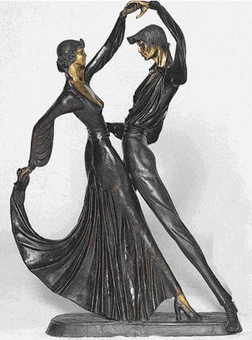 Bronze Tango Dancer Statue - ASB 245J