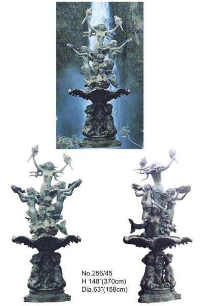Bronze Mermaid Fountains - BB 256-45