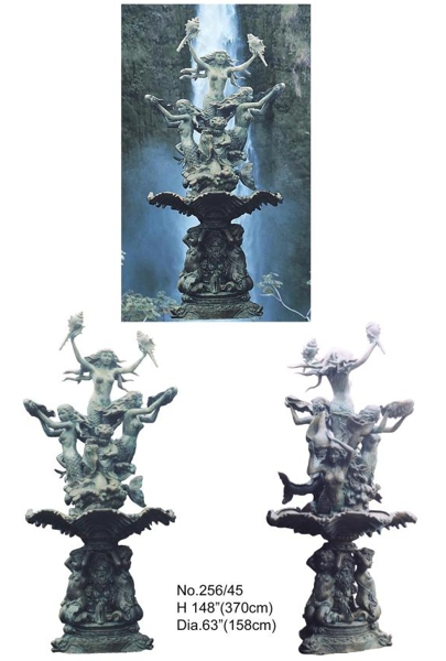 Bronze Mermaid Statues - BB 256-45-S