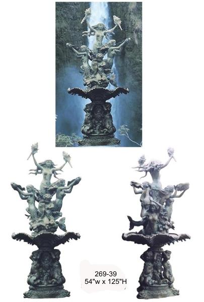 Bronze Mermaid Fountains - BB 269-39-F