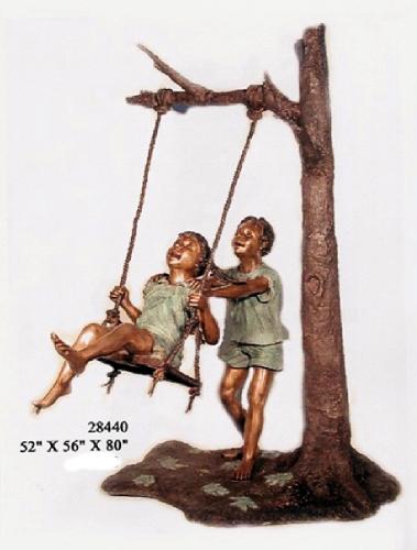 Bronze Children Statues - AF 28440