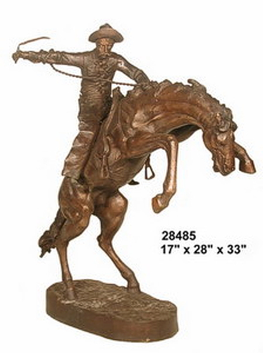 Bronze Wolly Chaps Statue - AF 28485