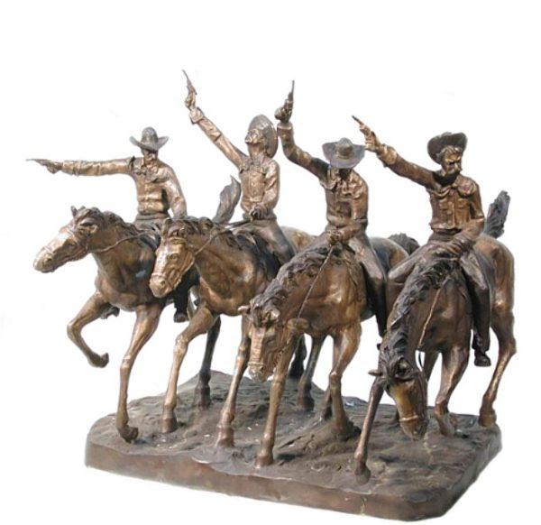 Bronze Coming Thru the Rye Statues