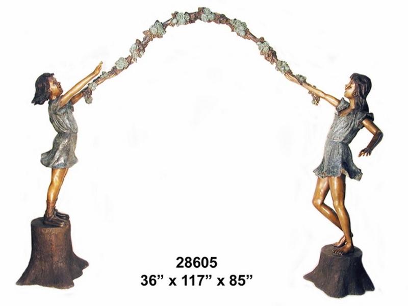 Bronze Children Statues