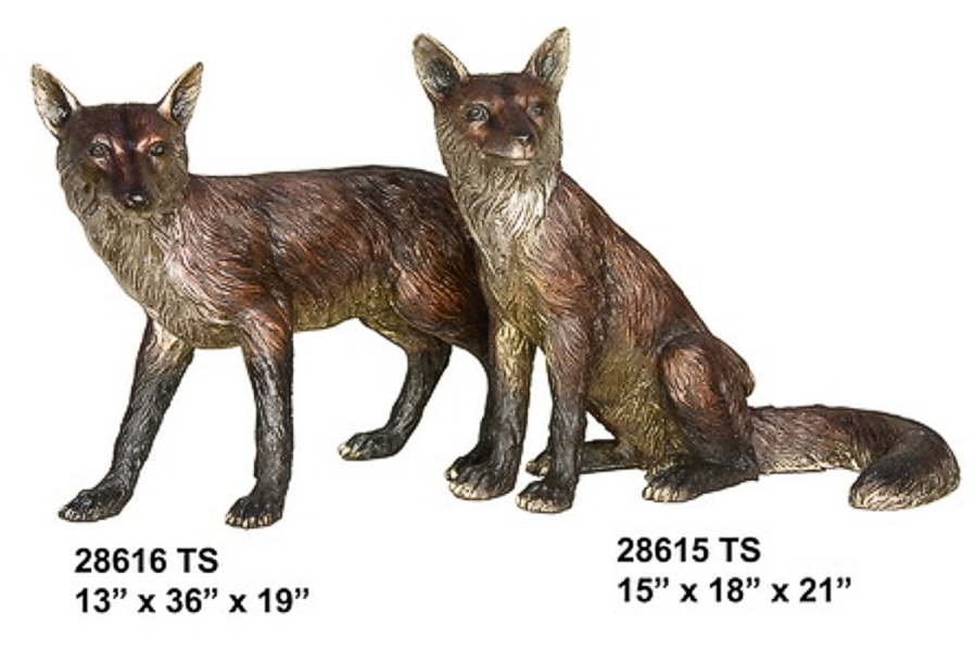 Bronze Fox Statue