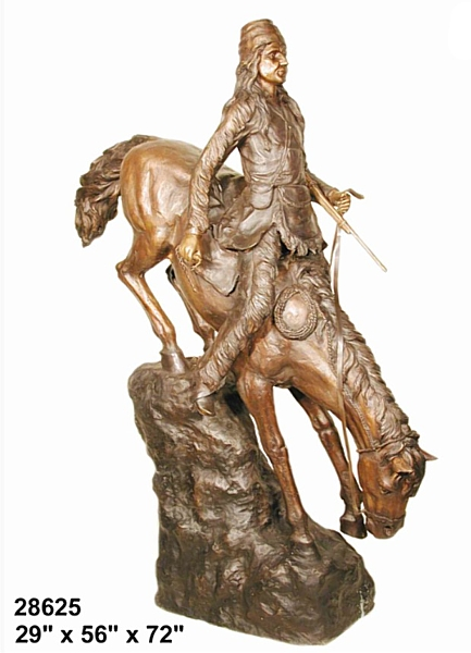 Bronze Remington Mountain Man Statue - AF 28625