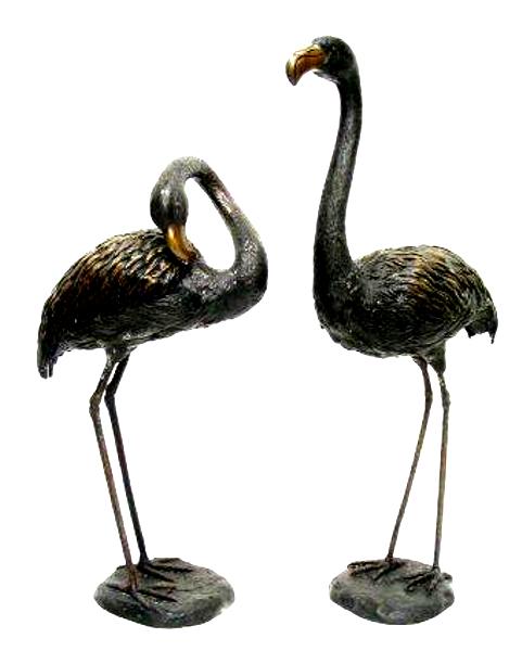 Bronze Flamingo Statues