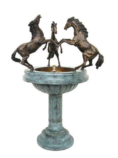 Bronze Horse Bowl Fountain - AF 28665