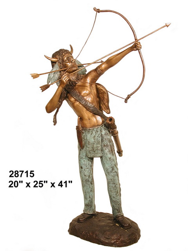 Bronze Indian Warrior Statues - AF 28715