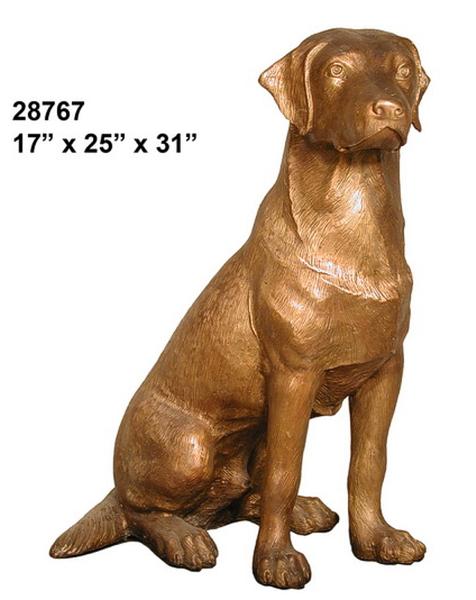 Bronze Labrador Retriever Statue - AF 28767