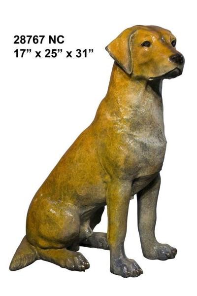 Bronze Labrador Retriever Statue - AF 28767NC