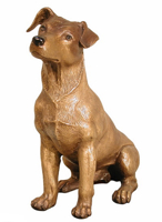 Bronze Jack Russell Dog Statue