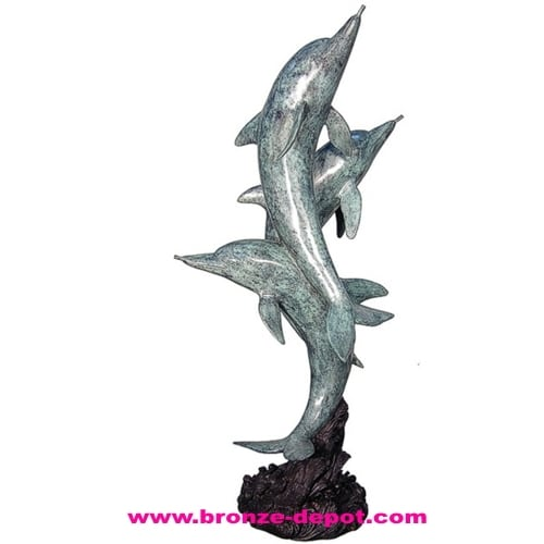 Bronze Dolphin Statues - AF 28786-S