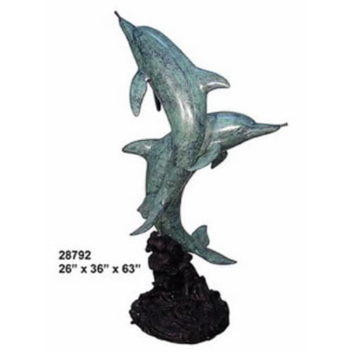 Bronze Dolphin Statues - AF 28792-S