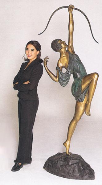 Bronze Diana Huntress Statue - ASB 289