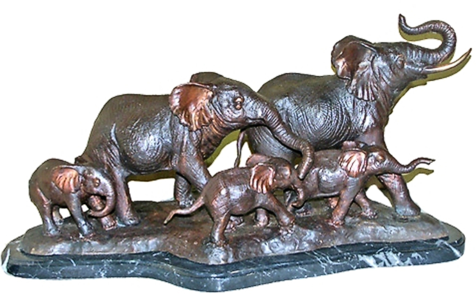 Bronze Elephant Statues - AF 28911