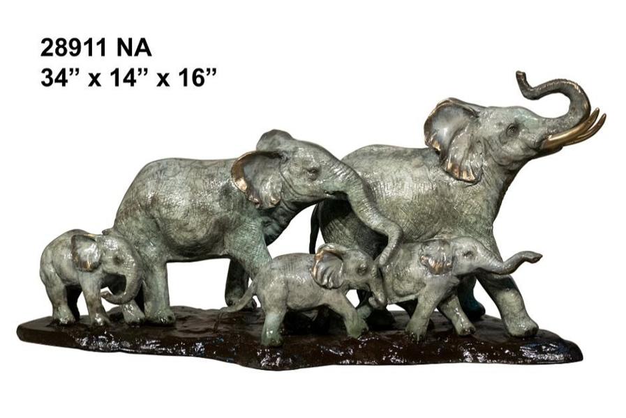 Bronze Elephant Statues - AF 28911 NA