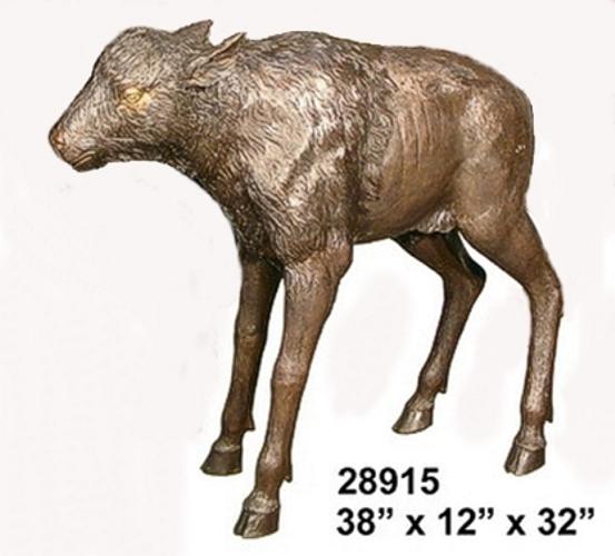 Bronze Bison Calf Statue - AF 28915
