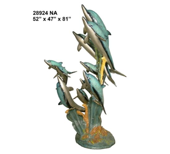 Bronze Dolphin Statues - AF 28924NA-S