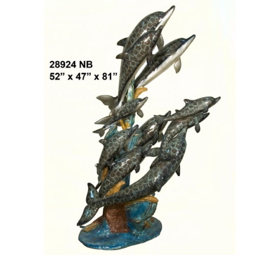 Bronze Dolphin Fountain - AF 28924NB
