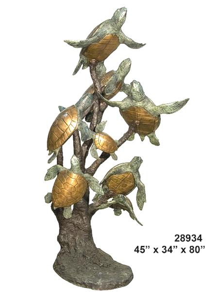 Bronze Turtles Fountain - AF 28934