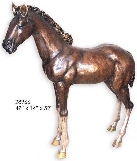 Bronze Colt Statue - AF 28966