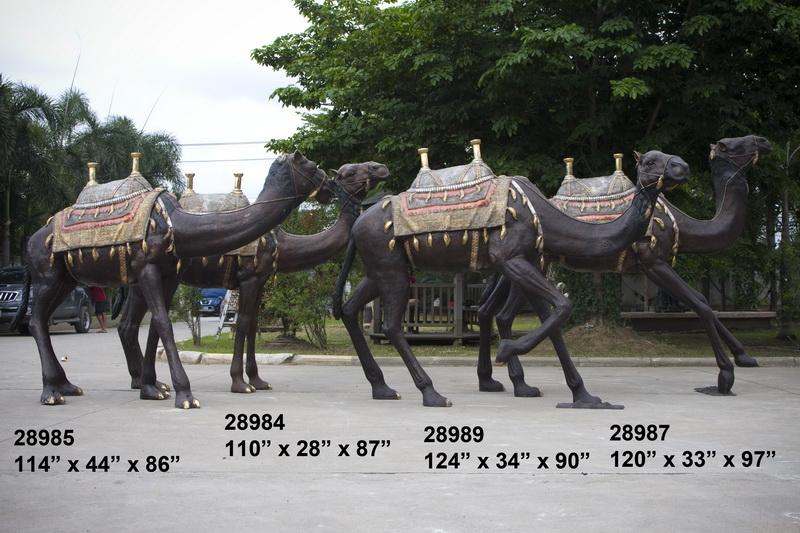 Bronze Camel Statue - AF 28984-89
